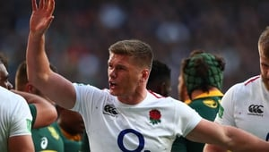 Owen Farrell was withdrawn from Saracens' home European Champions Cup match against Glasgow on Saturday to have a minor procedure on his thumb