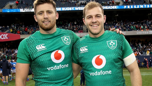 Ross Byrne and Will Addison made their Ireland debuts