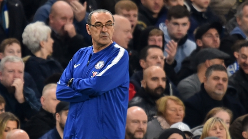 Maurizio Sarri says Chelsea remain a step behind Manchester City and Liverpool