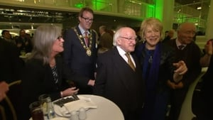President Higgins returned to his political heartland tonight after receiving a resounding mandate for a second term in Áras an Uachtaráin