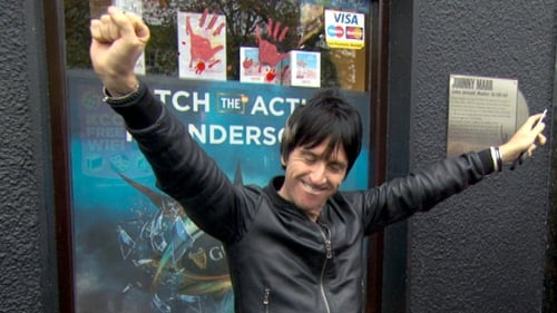 Johnny Marr pictured in Athy last October