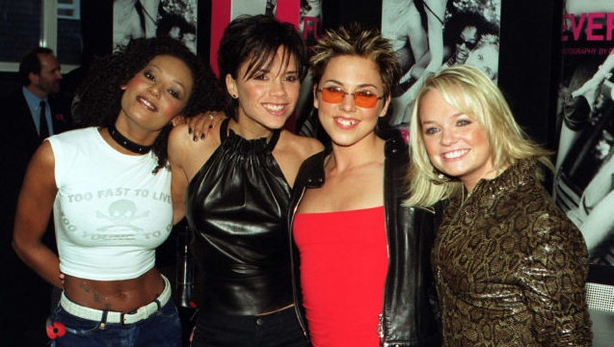 Spice Girls (from left) Mel G, Victoria Beckham, Mel C and Emma Bunton (John Stillwell/PA)