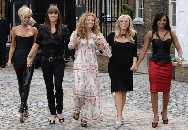 The Spice Girls during a photocall at the Royal Observatory (Joel Ryan/PA)