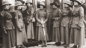A group of nursing volunteers from Ulster accompanying Irish troops to France, circa 1916