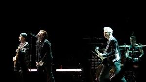 U2 performing in Dublin