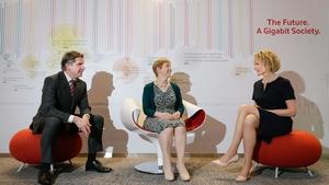 SFA Director Sven Spollen-Brehens, Vodafone Ireland Director of Enterprise Regina Moran and Abodoo Chief Digital Officer Louise O'Conor