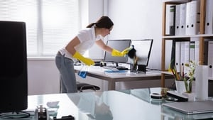 Whether you're working from home or an office, keeping your work environment clean has never been so important.