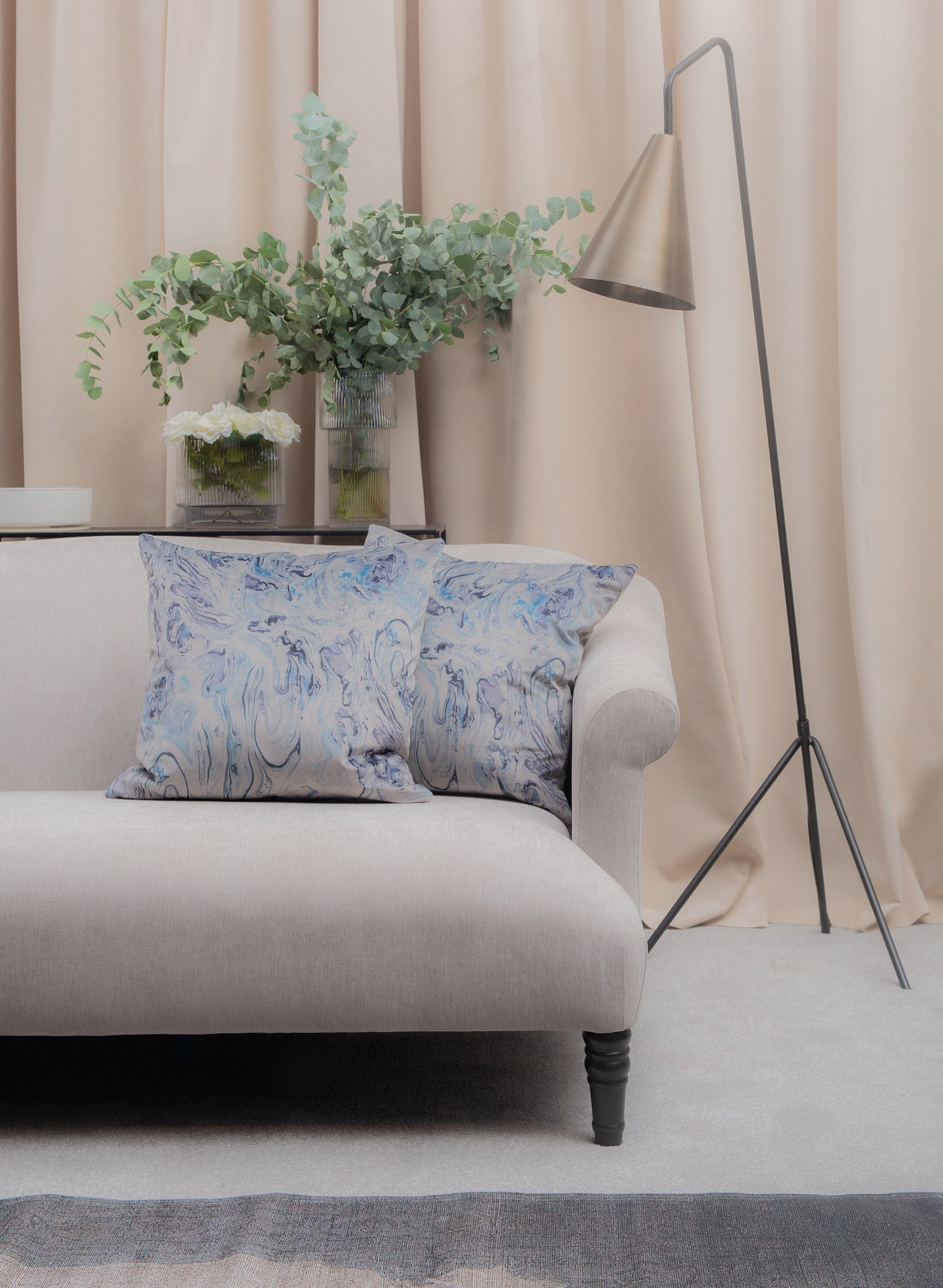 Image - Elegant Scandi highlighted the power of muted tones contrasted with glamorous accents