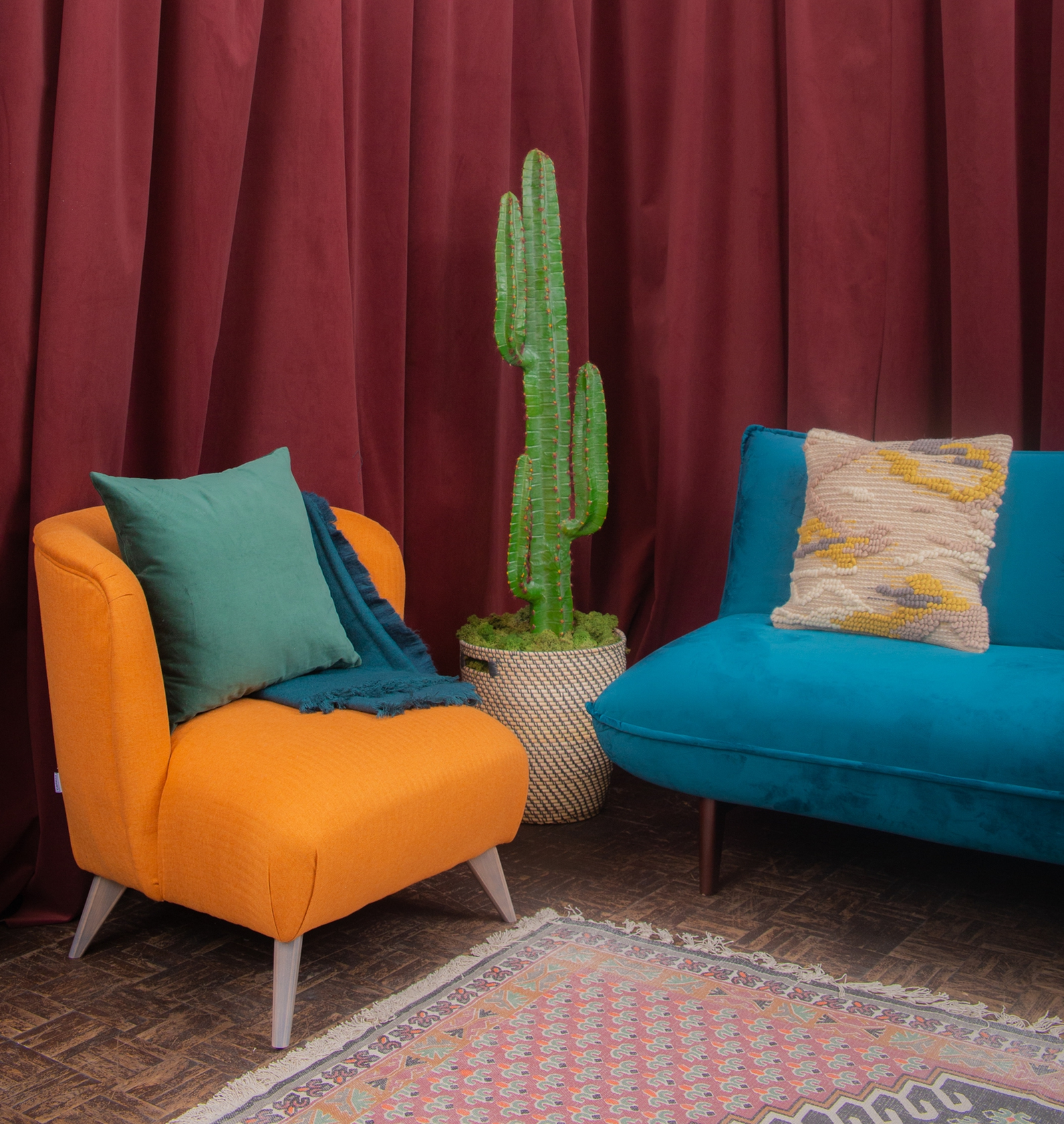 Image - Rustic Comfort featured jewel tones and Mid-Western inffluences