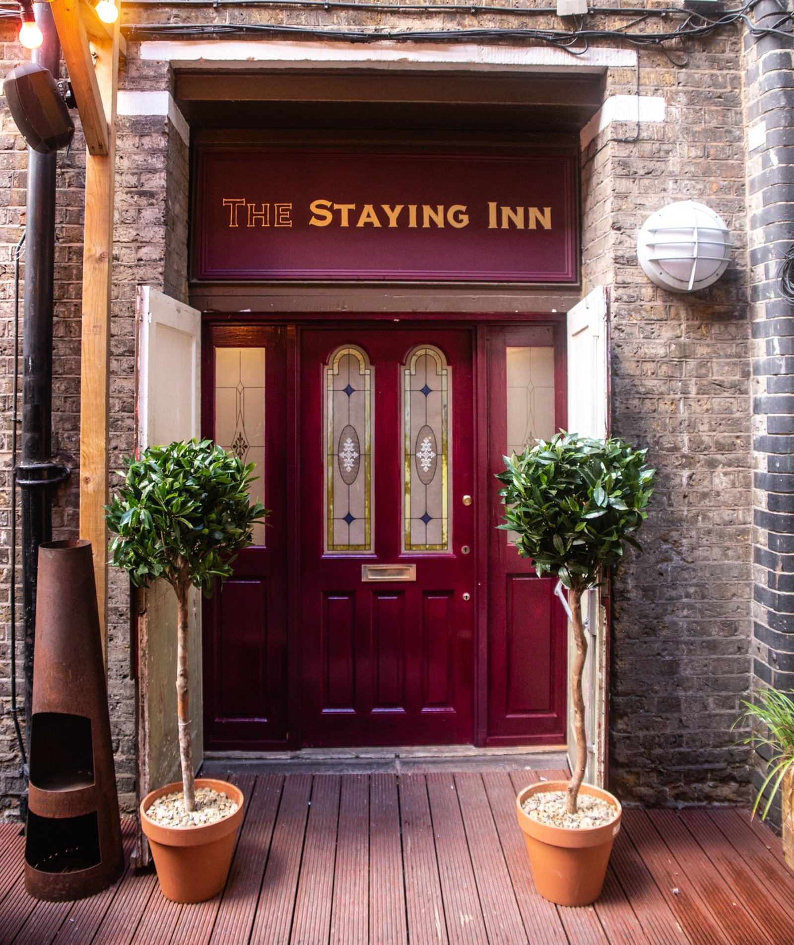 Image - A-door-able! The entrance to The Staying Inn