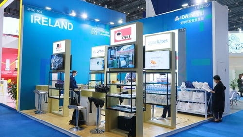 The Irish stand at CIIE in Shanghai