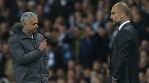 Jose Mourinho (L) and Pep Guardiola have been rivals at multiple clubs