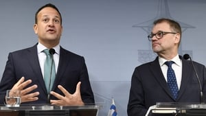 Leo Varadkar alongside Finland's Prime Minister Juha Sipila in Helsinki ahead of the EPP Congress