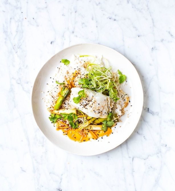 Donal's Soy & Ginger Fish with Rice