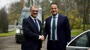 Taoiseach Leo Varadkar held talks with Finland's Prime Minister Juha Sipila today