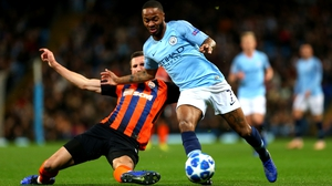Raheem Sterling tipped himself for a penalty