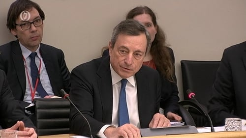 Outgoing ECB chief Mario Draghi at a Finance Committee meeting in November 2018