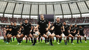 New Zealand performing the haka in Japan last week