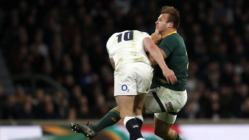 Owen Farrell was considered by many to be a lucky man to avoid sanction for this tackle