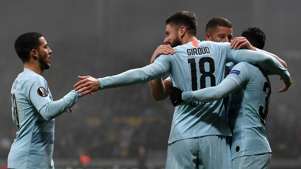 Olivier Giroud scored his first Chelsea goal in 794 minutes to help secure the win