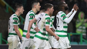 Odsonne Edouard celebrates Celtic's winner
