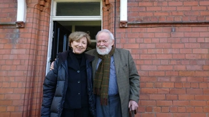 Poetry Programme host Olivia O'Leary with Michael Longley