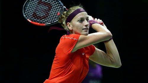 Petra Kvitova is out for the Czech Republic
