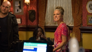 Shirley lashes out at Linda and Stuart on EastEnders