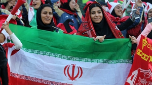 Female Persepolis fans ahead of this afternoon's Asian Champions League final