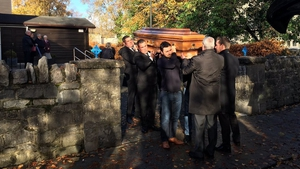 Family and friends of Gussie Shanahan gathered today to say a final farewell