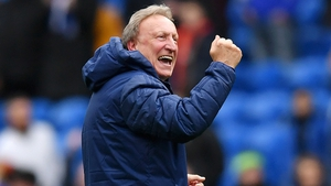 Neil Warnock celebrates Cardiff's  dramatic victory