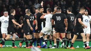 It is a fiercely contested Test match in Twickenham