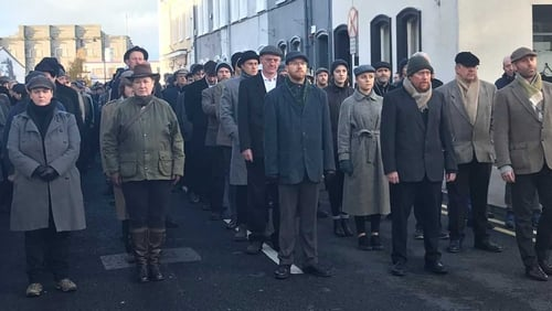 A procession to commemorate those who died during the war took place in Sligo town