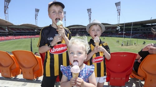 Young Kilkenny fans cool down in Sydney