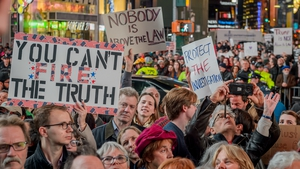 A demonstration in Times Square last week to protect the Mueller investigation and protest against new acting Attorney General Matthew Whitaker