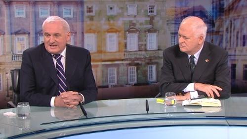Bertie Ahern and John Bruton were speaking on The Week In Politics