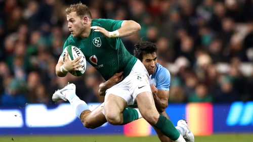 Ulster centre Will Addison made his first start for Ireland in yesterday's win over Argentina