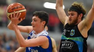 CJ Fulton (L) in action for Belfast Star
