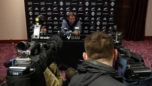 Steve Hansen and the All Blacks landed in Dublin on Sunday evening