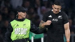 Sonny Bill Williams was forced off against England with a shoulder problem