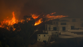 Around 75,000 homes have been evacuated in LA and Ventura counties due to two fires in the region