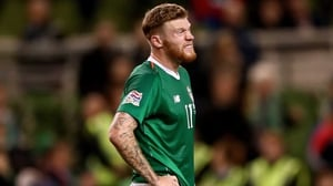 James McClean is suspended for the Denmark game