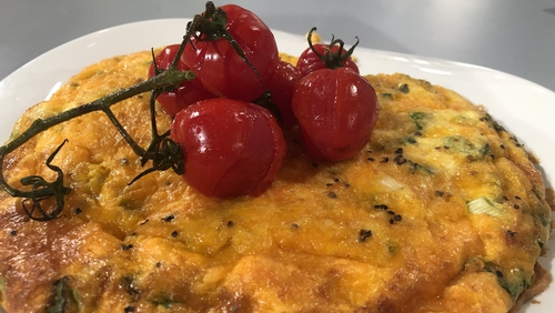 Paul's Seafood Frittata with Cheddar