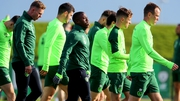 Michael Obafemi in amongst the Ireland senior squad for the first time