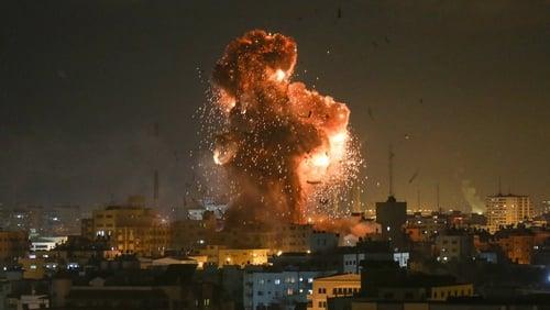 Israeli aircraft destroyed the premises of Hamas's Al-Aqsa Television