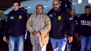 Joaquín 'El Chapo' Guzmán following his extradition to the United States from Mexico in January 2017