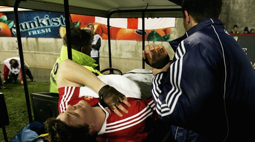 O'Driscoll after the incident in 2005