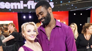 Purple reign - Evanna Lynch and Keo Motsepe