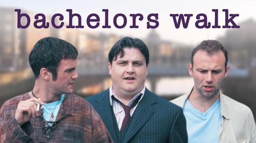 Keith McErlean, Simon Delaney and Don Wycherley in Bachelors Walk