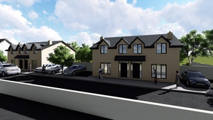 An artist's impression of the development in Mooncoin, Co Kilkenny